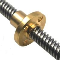 پیچ لید اسکرو T8 گام 8 میلیمتر با طول 30 سانتی متر همراه با مهره - 30cmT8 LEAD SCREW 8mm